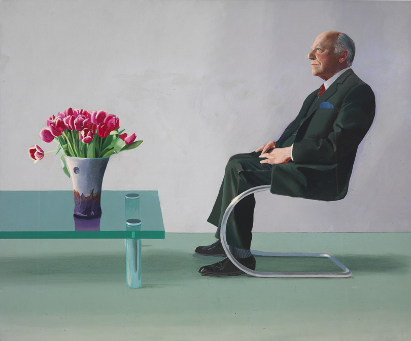 Portrait of Sir David Webster a painting by David Hockney