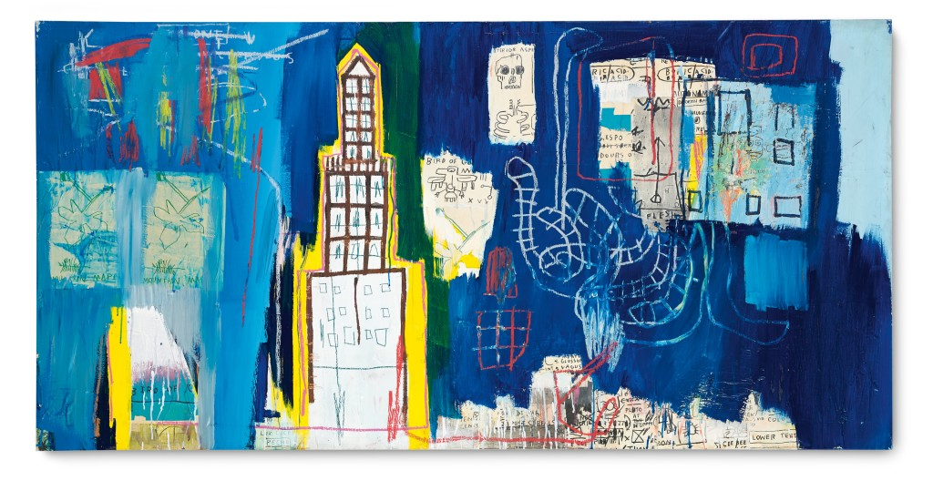 Justcome Suit a painting by Jean-Michel Basquiat