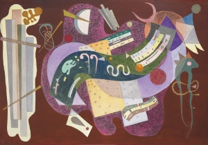 Rigide et courbé an abstract painting by Wassily Kandinsky